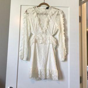 PLT white ruffle dress